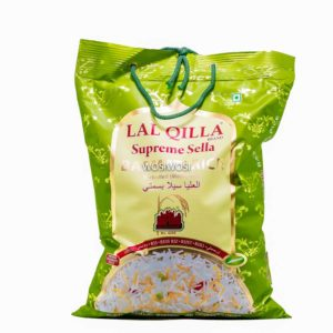 A bag of Lal Qilla Supreme Sella Basmati Rice
