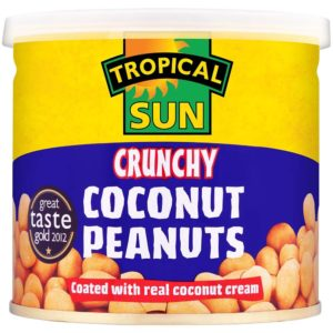 Tub of Tropical Sun TS Crunchy Coconut Peanuts
